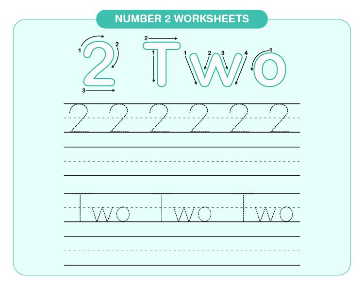 Number 2 worksheets 01
