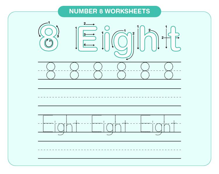 Number 8 worksheets 01