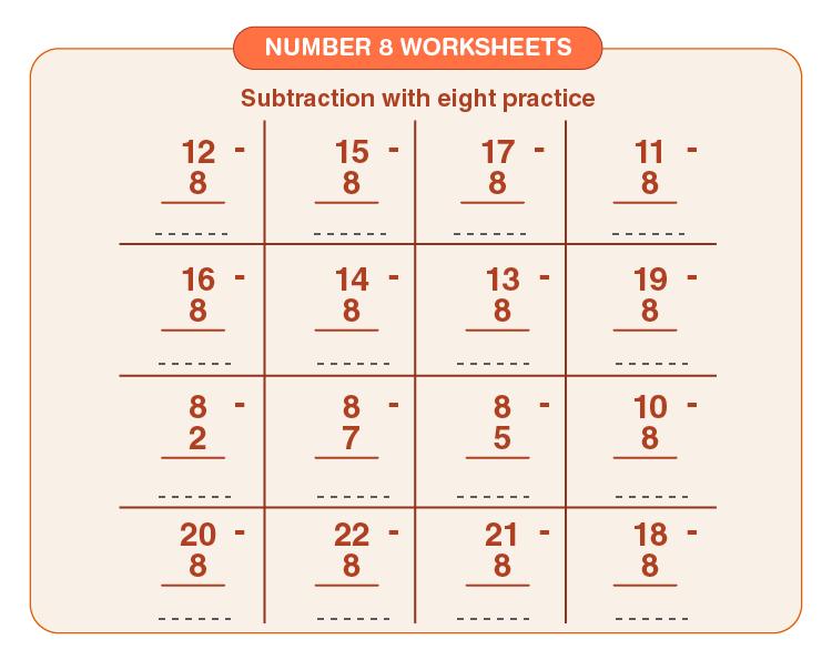Number 8 worksheets 04
