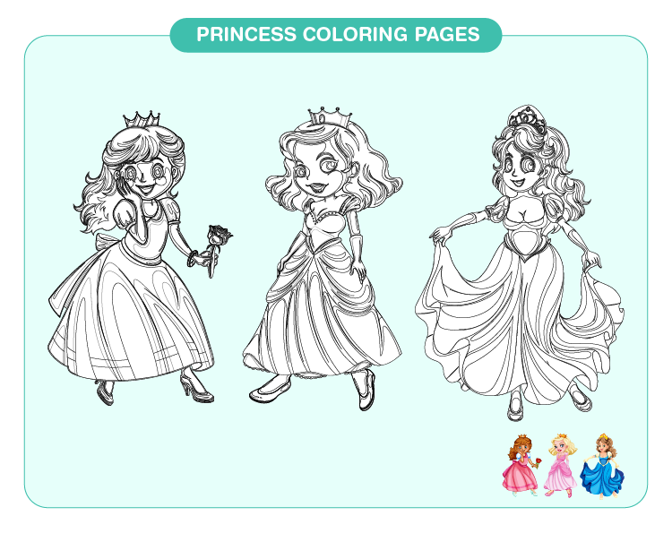 Princess Coloring Pages 01