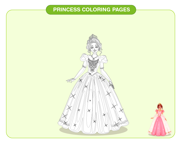 Princess Coloring Pages 02
