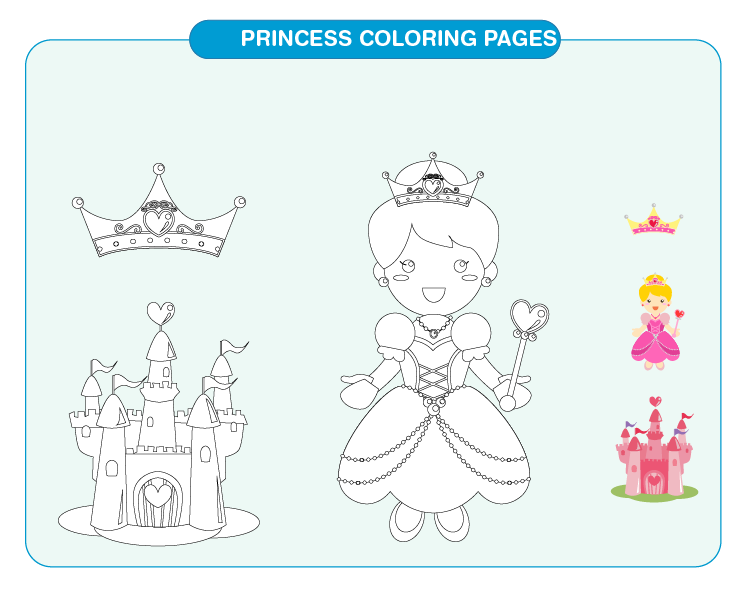 Princess Coloring Pages 04