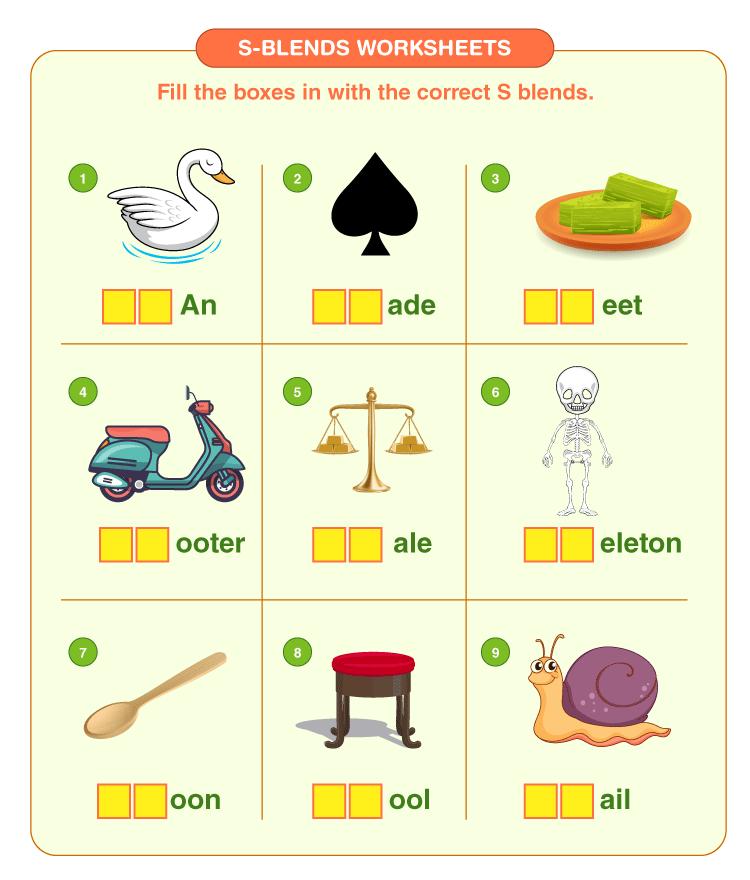 s blend worksheet