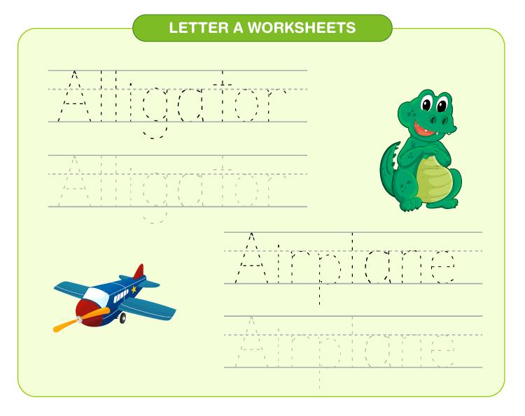letter A worksheets 2