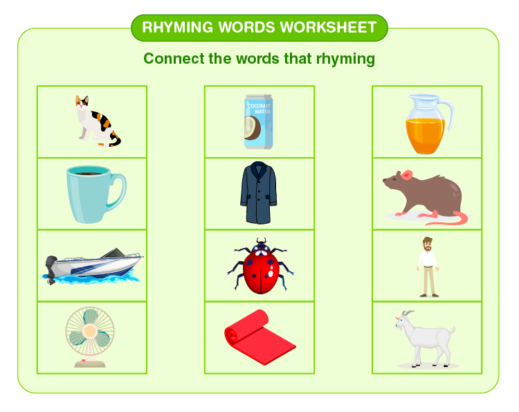 Match the rhyming words: Rhyming words worksheet