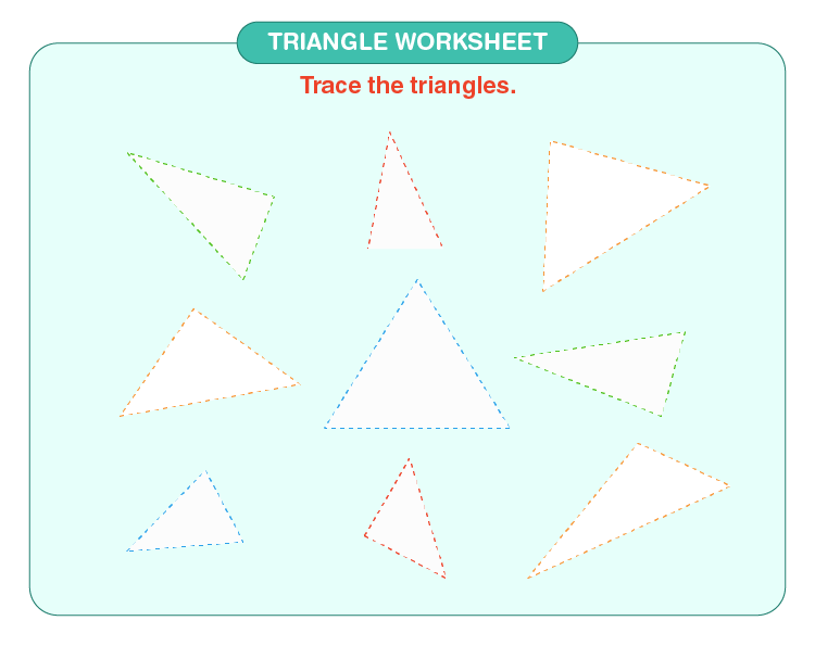 Trace the triangle: Free triangle worksheets for kids