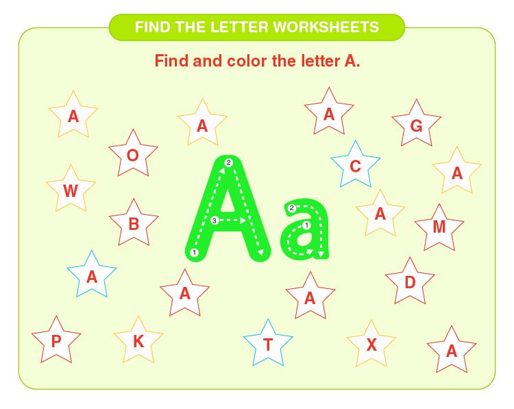 find the letter worksheets 01