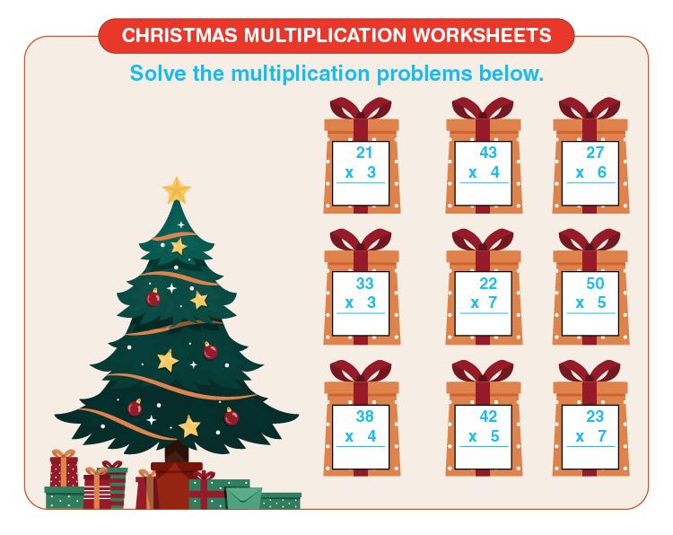 Christmas Multiplication Worksheets