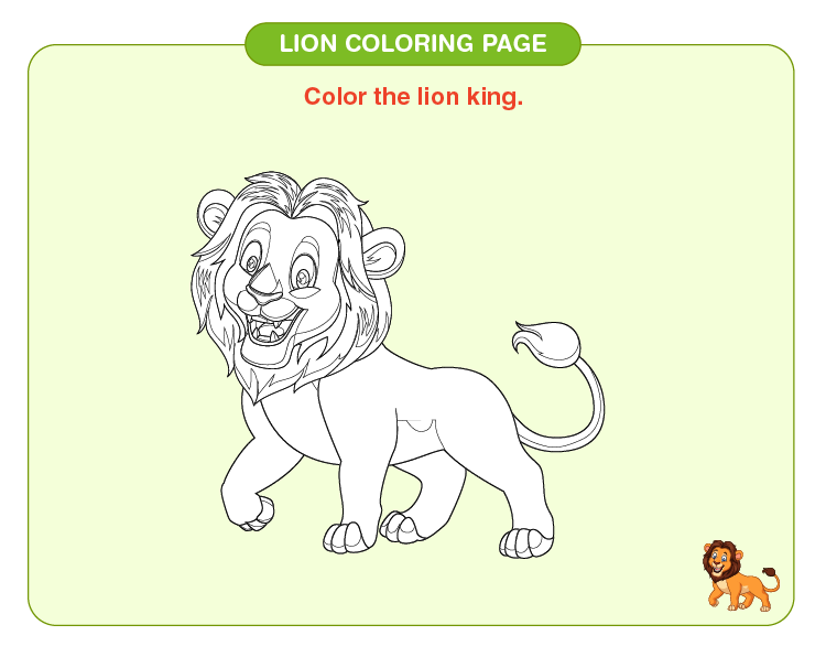 Color the lion king: Lion coloring pages for kids