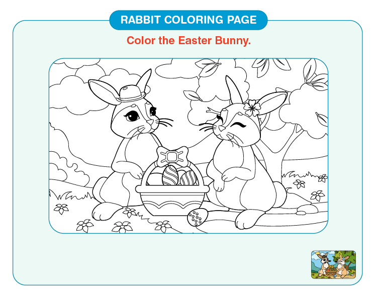 Color the easter bunny: Printable rabbit coloring pages for kids