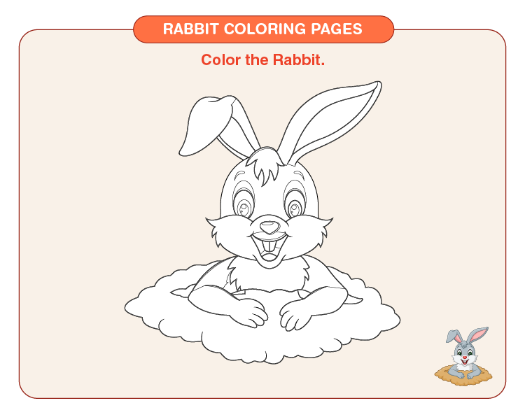 Color the rabbit: Free rabbit coloring pages for kids