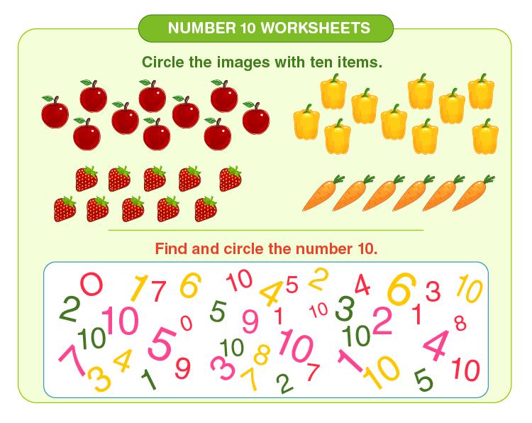 Number 10 Counting Worksheet