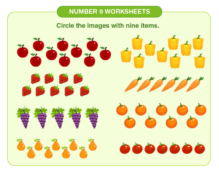 Number 9 Counting Worksheet