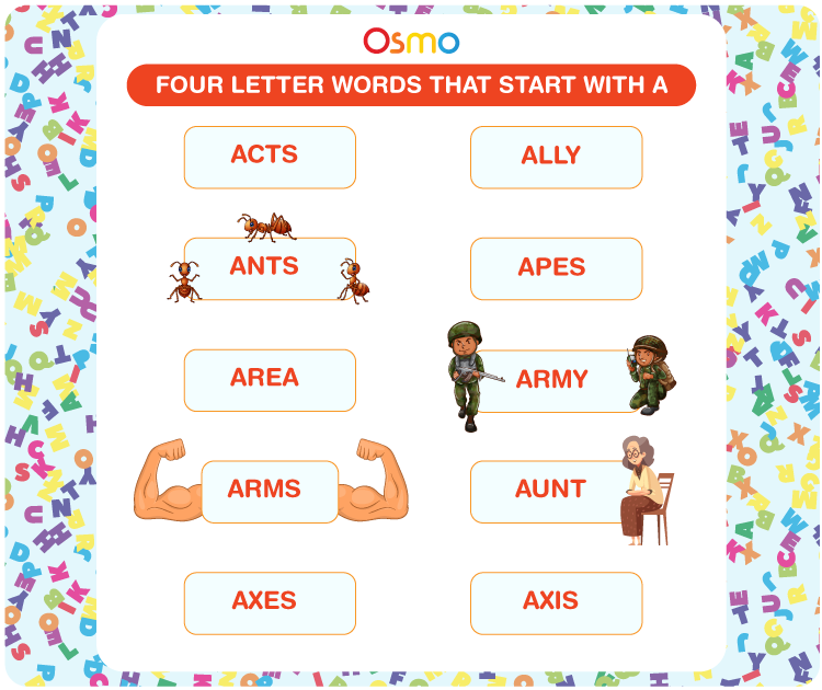 4 Letter Words That Start With A